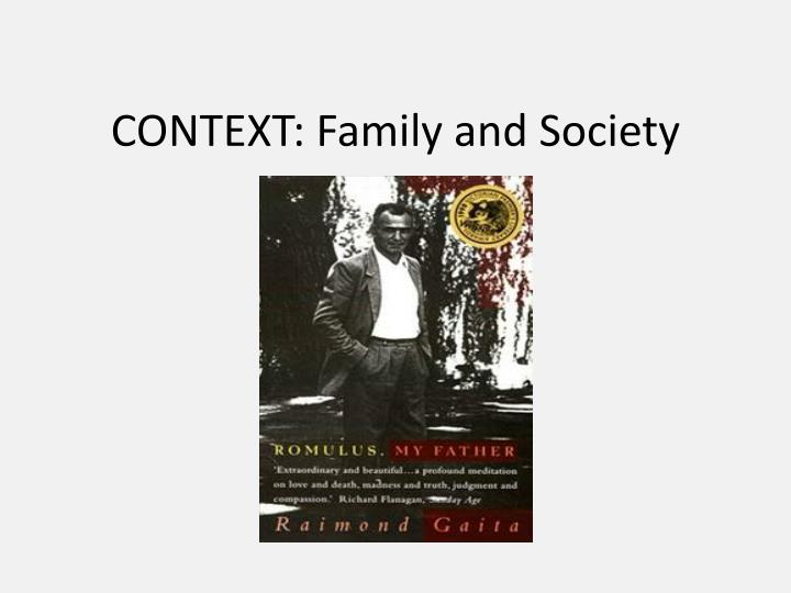 Context family and society