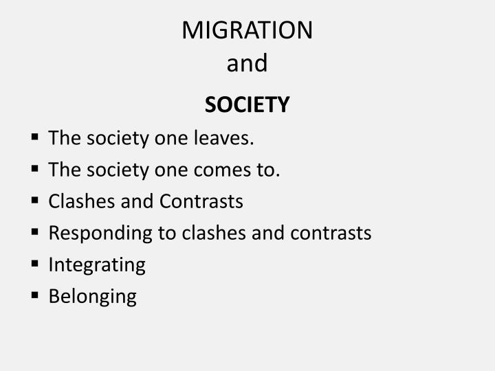 Migration and1