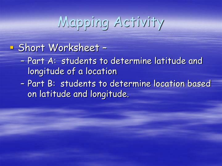 Mapping Activity