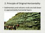 2 principle of original horizontality