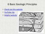 6 basic geologic principles