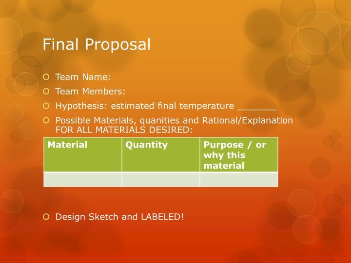 Final Proposal