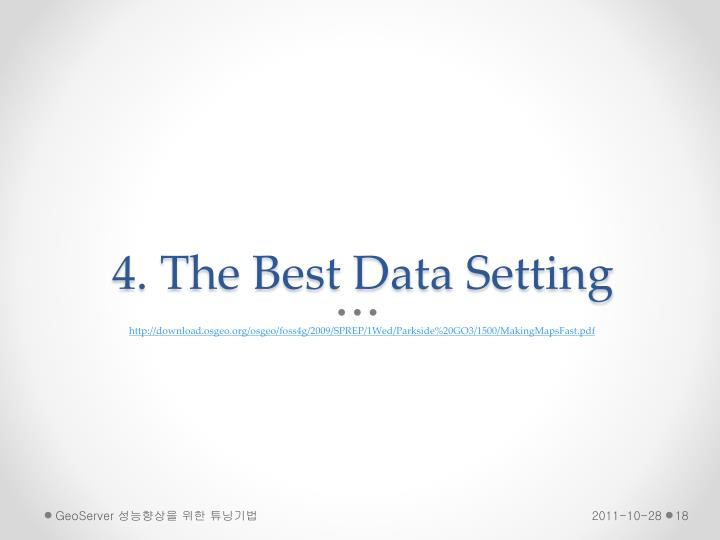 4. The Best Data Setting