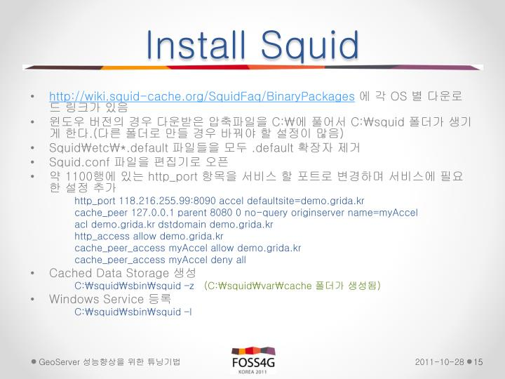 Install Squid