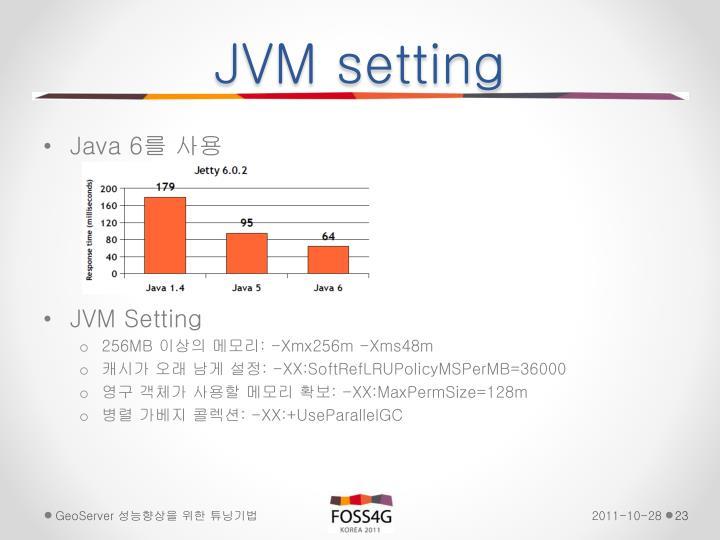 JVM setting
