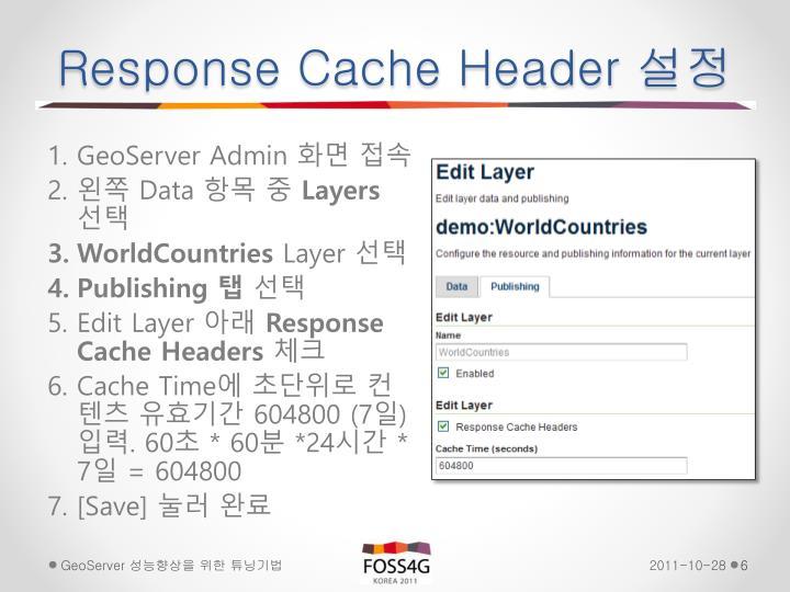 Response Cache Header