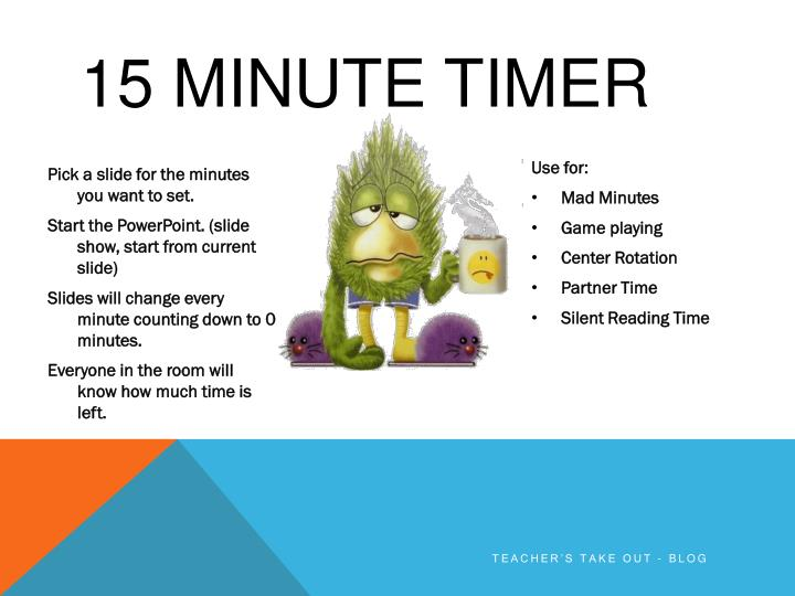 ppt - 15 minute timer powerpoint presentation