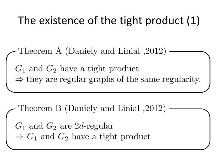 The existence of the tight product