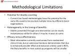 methodological limitations