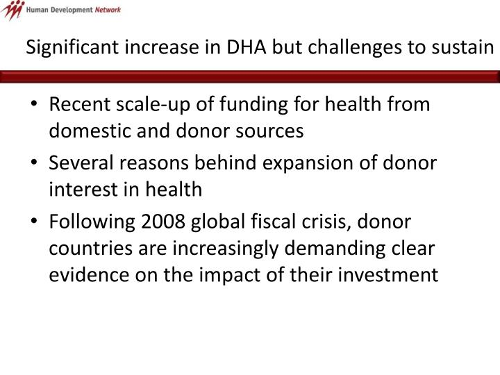 Significant increase in dha but challenges to sustain