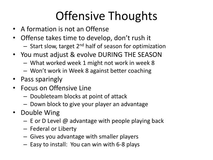 Offensive Thoughts
