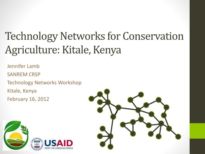 Technology networks for conservation agriculture kitale kenya