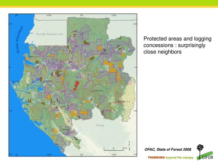 Protected areas and logging concessions : surprisingly  close neighbors
