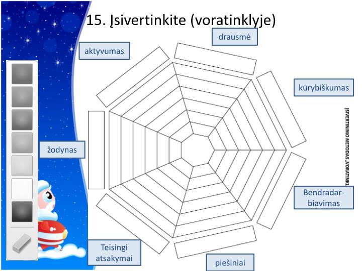 15. Įsivertinkite (voratinklyje)