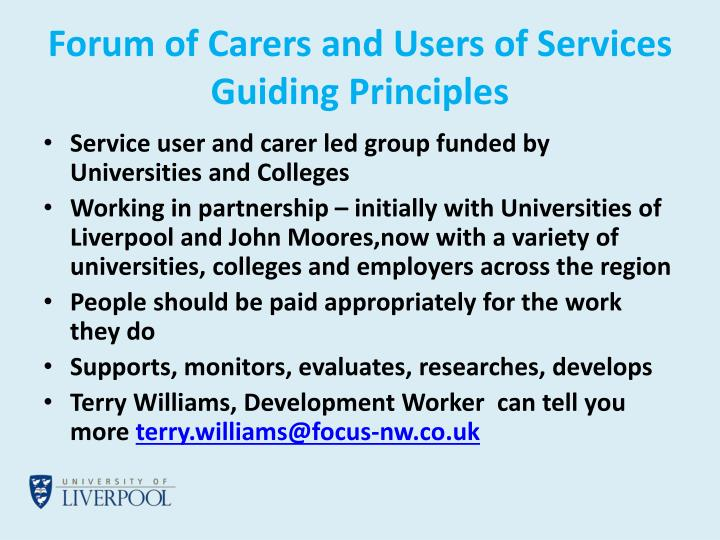 Forum of Carers and Users of Services