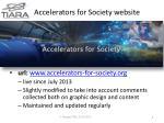 accelerators for society website