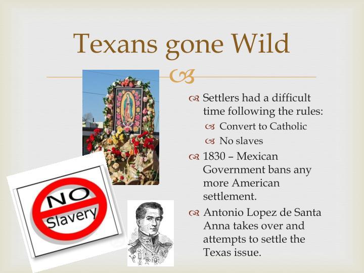 Texans gone Wild