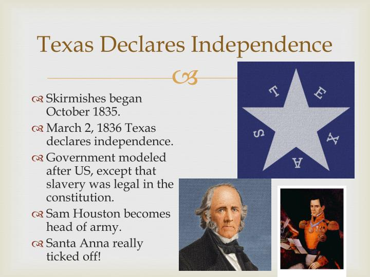 Texas Declares Independence