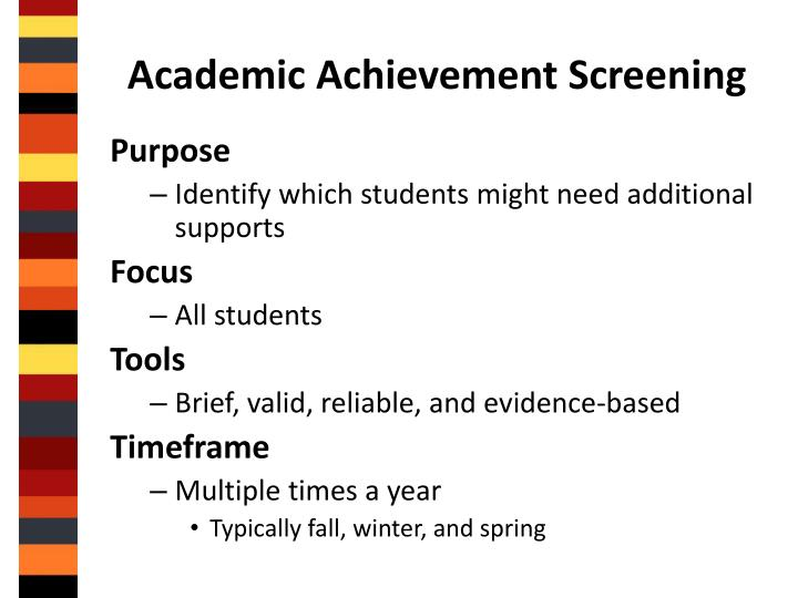 Academic Achievement Screening