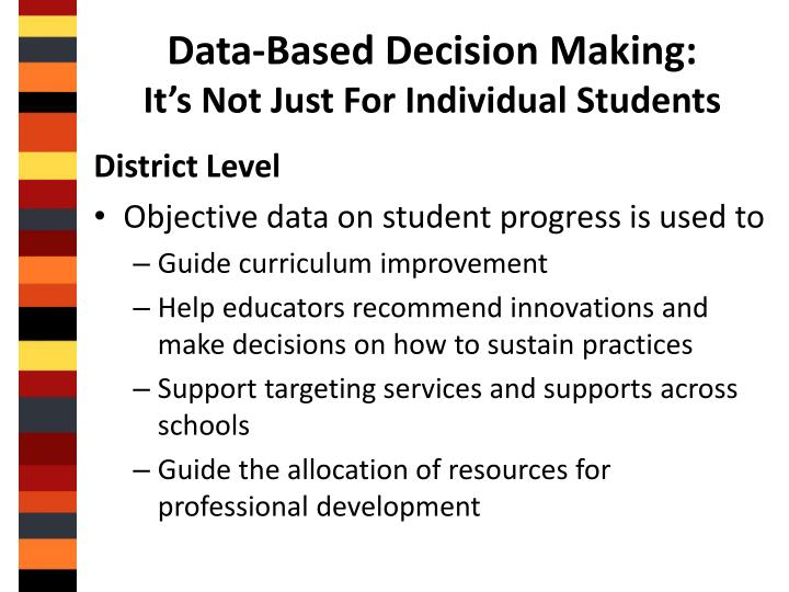 Data-Based Decision Making: