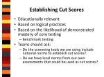 establishing cut scores1