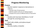 progress monitoring1
