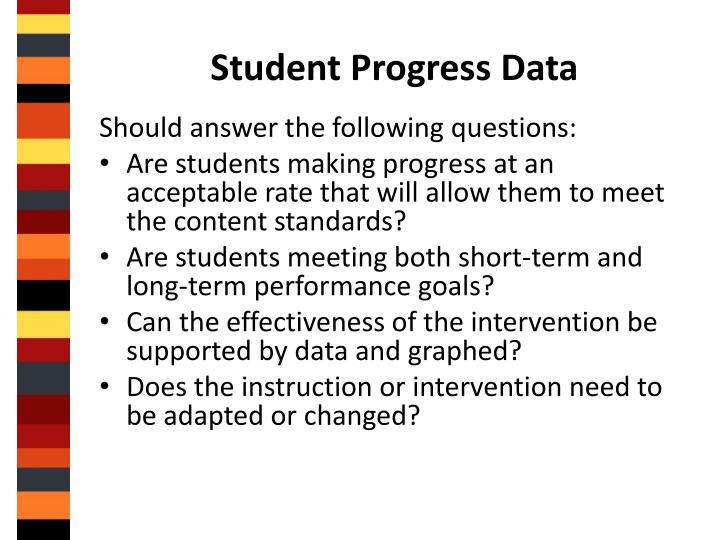 Student Progress Data