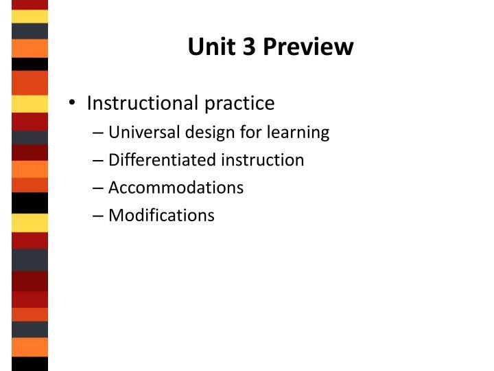 Unit 3 Preview