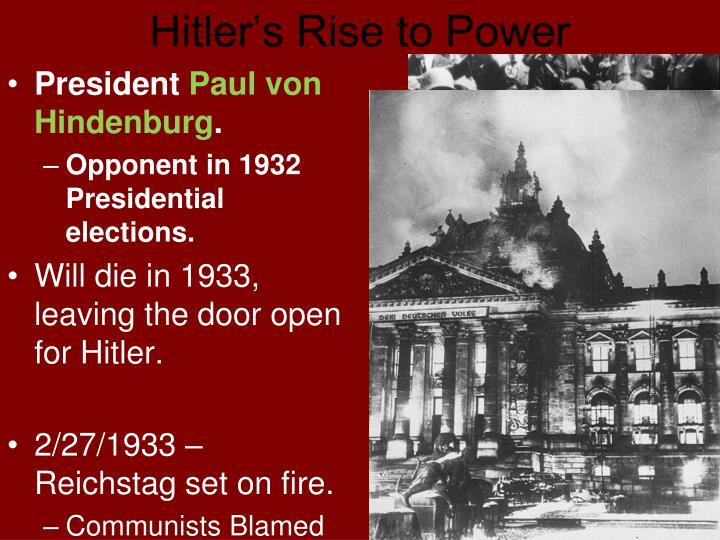 adolf hitlers rise to power in germany from 1918 to 1933 The holocaust, part one: the rise of adolf hitler and world war ii  power in germany in the  in 1933, jews in germany numbered around 525,000 — about 1.