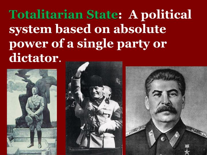 nazi germany totalitarian state Lecture 10 the age of totalitarianism: stalin and hitler: we live, not feeling the country beneath us,  the totalitarian state was based on boundless dynamism totalitarian society was a fully mobilized society, a society constantly moving toward some goal  nazi germany emerged rapidly after 1933 when hitler came to power the nazis.