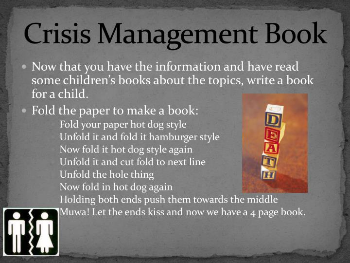 Crisis Management Book