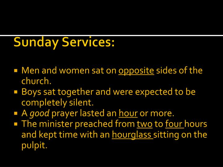 Sunday Services: