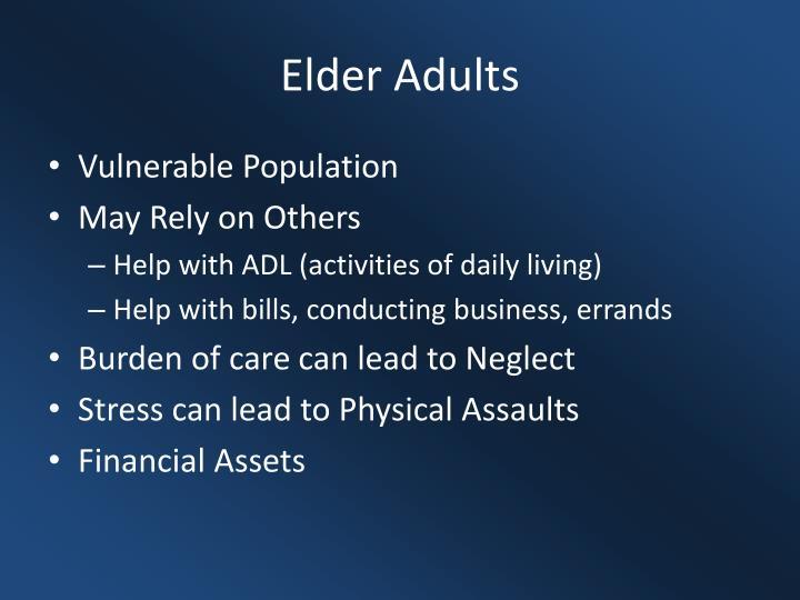Elder Adults