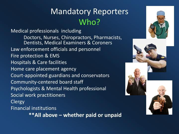 Mandatory Reporters