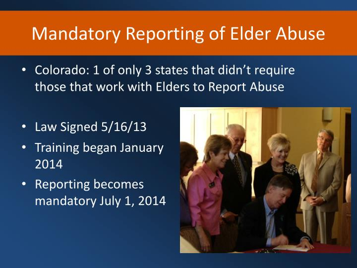 Mandatory Reporting of Elder Abuse