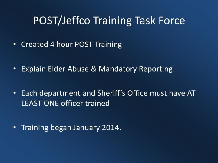 POST/Jeffco Training Task Force
