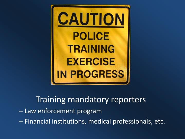 Training mandatory reporters