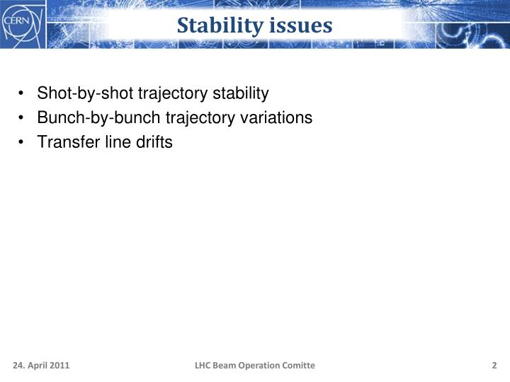 Stability issues