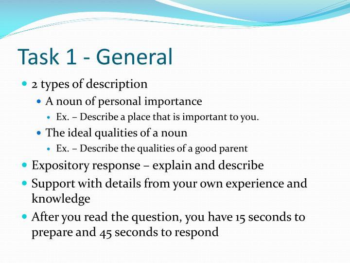 Task 1 - General
