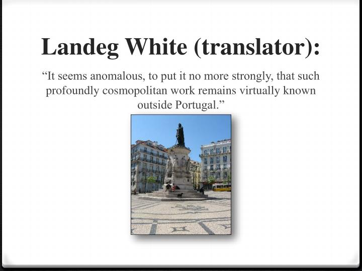 Landeg white translator