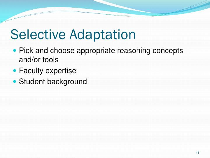 Selective Adaptation