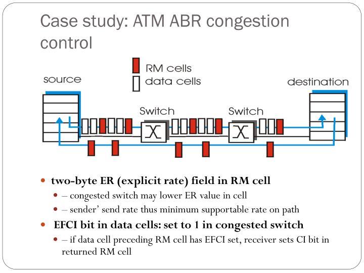 Case study: ATM ABR congestion