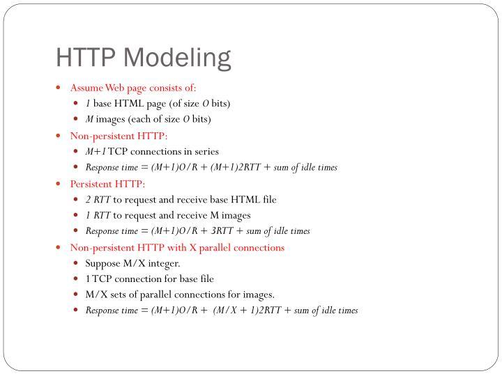 HTTP Modeling
