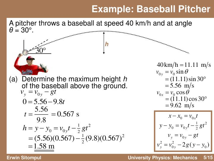 Example: Baseball Pitcher