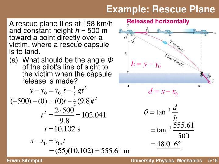Example: Rescue Plane