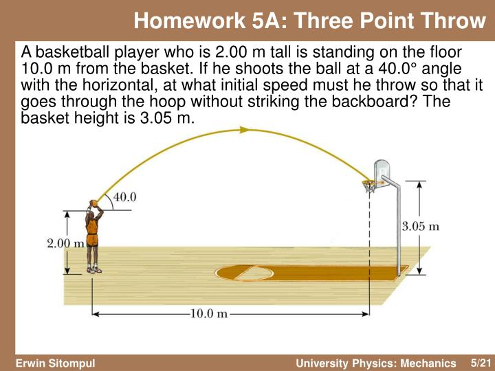 Homework 5A: Three Point Throw
