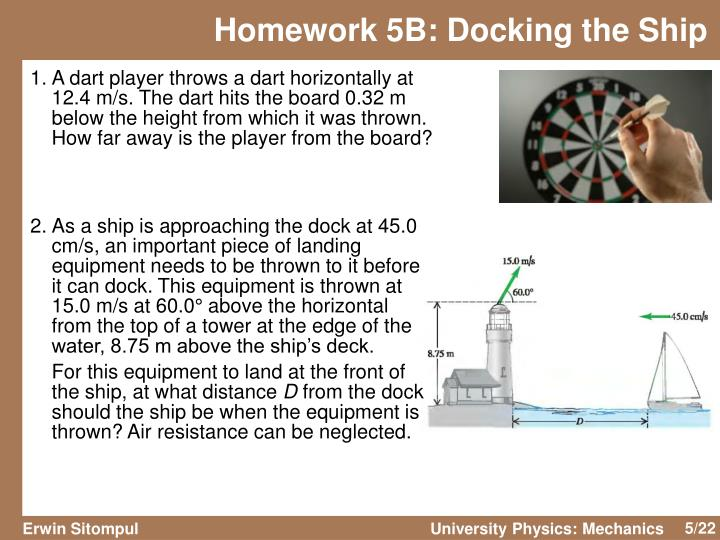 Homework 5B: Docking the Ship