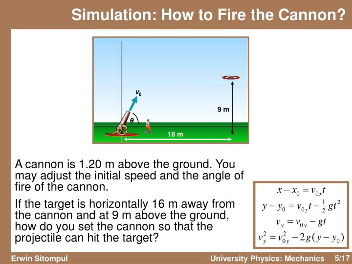 Simulation: How to Fire the Cannon?