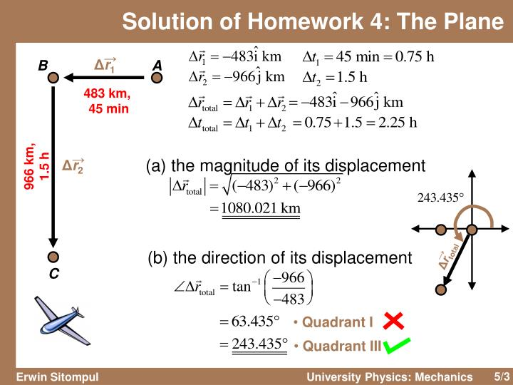 Solution of homework 4 the plane
