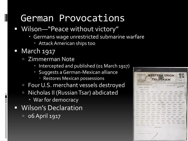 German Provocations